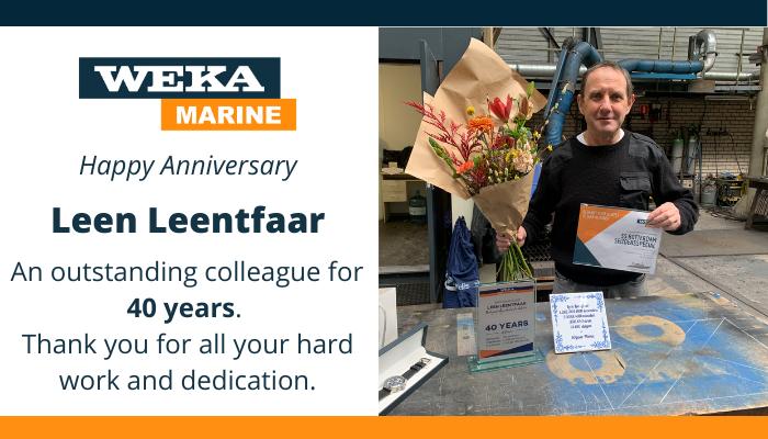 Happy anniversary Leen – 40 years of service